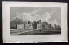 Westall 1830 Antique Print. Eaton Hall, Cheshire